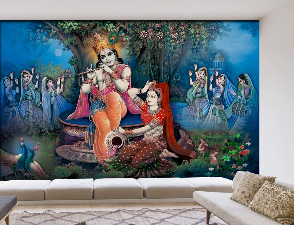 Religion Spiritual Designer Wallpaper Home Decoration Prayer Room Religious Wall Murals Pictures Photos Coverings Shop Online Offer Best Price